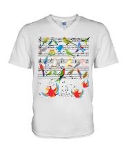 Parrot music V-Neck T-Shirt thumbnail