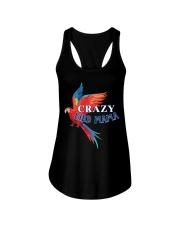 Crazy bird mama Ladies Flowy Tank thumbnail