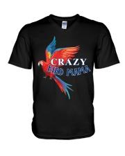 Crazy bird mama V-Neck T-Shirt thumbnail