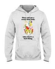 Crazy lady Hooded Sweatshirt thumbnail
