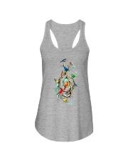 Birds and music Ladies Flowy Tank thumbnail
