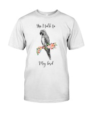 Yep i talk to my bird Premium Fit Mens Tee thumbnail