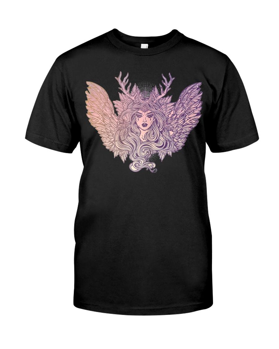 Dark Angel Evil Queen Satanic Halloween Party Classic T-Shirt