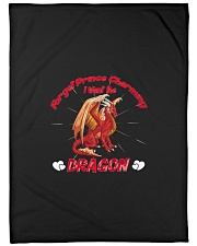 "I Want The Dragon Large Fleece Blanket - 60"" x 80"" thumbnail"