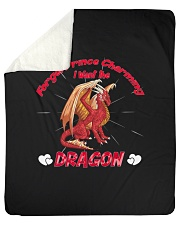"I Want The Dragon Sherpa Fleece Blanket - 50"" x 60"" thumbnail"