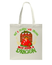 Not a Creature Was Stirring Not Even A Dragon Tote Bag thumbnail