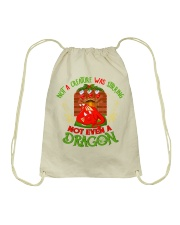 Not a Creature Was Stirring Not Even A Dragon Drawstring Bag thumbnail