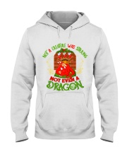 Not a Creature Was Stirring Not Even A Dragon Hooded Sweatshirt thumbnail