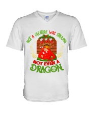 Not a Creature Was Stirring Not Even A Dragon V-Neck T-Shirt thumbnail