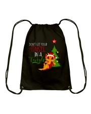 Don't Get Your Tinsel In A Tangle Drawstring Bag thumbnail