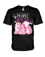 I Love My Dragon V-Neck T-Shirt thumbnail