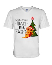Don't Get Your Tinsel In A Tangle V-Neck T-Shirt thumbnail