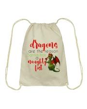 Dragons are Naughty in Really Nice Ways Drawstring Bag thumbnail