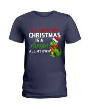 A Dragon for Christmas Ladies T-Shirt thumbnail