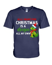A Dragon for Christmas V-Neck T-Shirt thumbnail