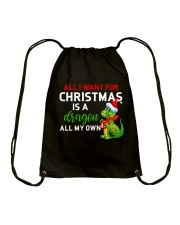 A Dragon for Christmas Drawstring Bag thumbnail