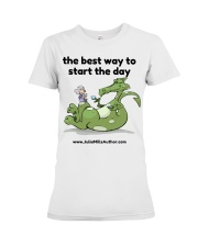 The Best Way to Start Your Day Premium Fit Ladies Tee thumbnail