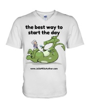 The Best Way to Start Your Day V-Neck T-Shirt thumbnail