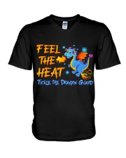 Tickle the Dragon Guard All Day Long V-Neck T-Shirt front
