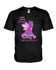FIGHT LIKE A DRAGON V-Neck T-Shirt thumbnail
