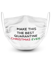MAKE THIS THE BESTQUARANTINE CHRISTMAS EVER 2 Layer Face Mask - Single thumbnail