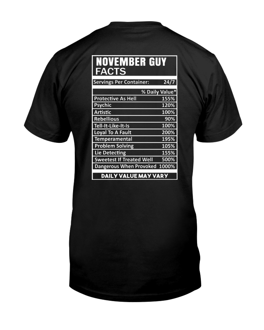 November Guy Facts Classic T-Shirt