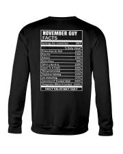 November Guy Facts Crewneck Sweatshirt thumbnail