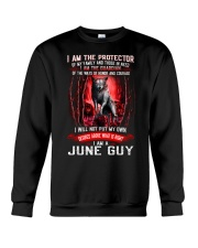 JUNE GUY IS THE PROTECTOR OF THE FAMILY Crewneck Sweatshirt thumbnail
