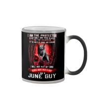 JUNE GUY IS THE PROTECTOR OF THE FAMILY Color Changing Mug thumbnail