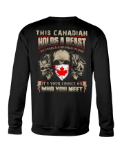 This Canadian Holds A Beast  Crewneck Sweatshirt thumbnail