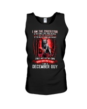 DECEMBER GUY IS THE PROTECTOR OF THE FAMILY Unisex Tank thumbnail