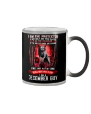 DECEMBER GUY IS THE PROTECTOR OF THE FAMILY Color Changing Mug thumbnail