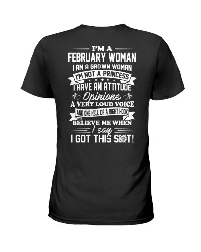 February Woman Is A Grown Woman