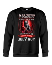 JULY GUY IS THE PROTECTOR OF THE FAMILY Crewneck Sweatshirt thumbnail