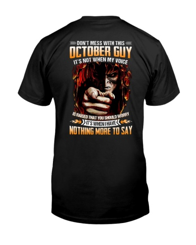 Don't Mess With This October Guy