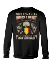 This Romanian Holds A Beast  Crewneck Sweatshirt thumbnail