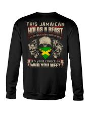 This Jamaican Holds A Beast  Crewneck Sweatshirt thumbnail