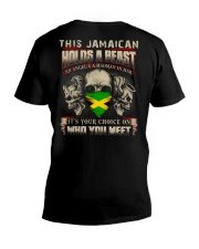 This Jamaican Holds A Beast  V-Neck T-Shirt thumbnail