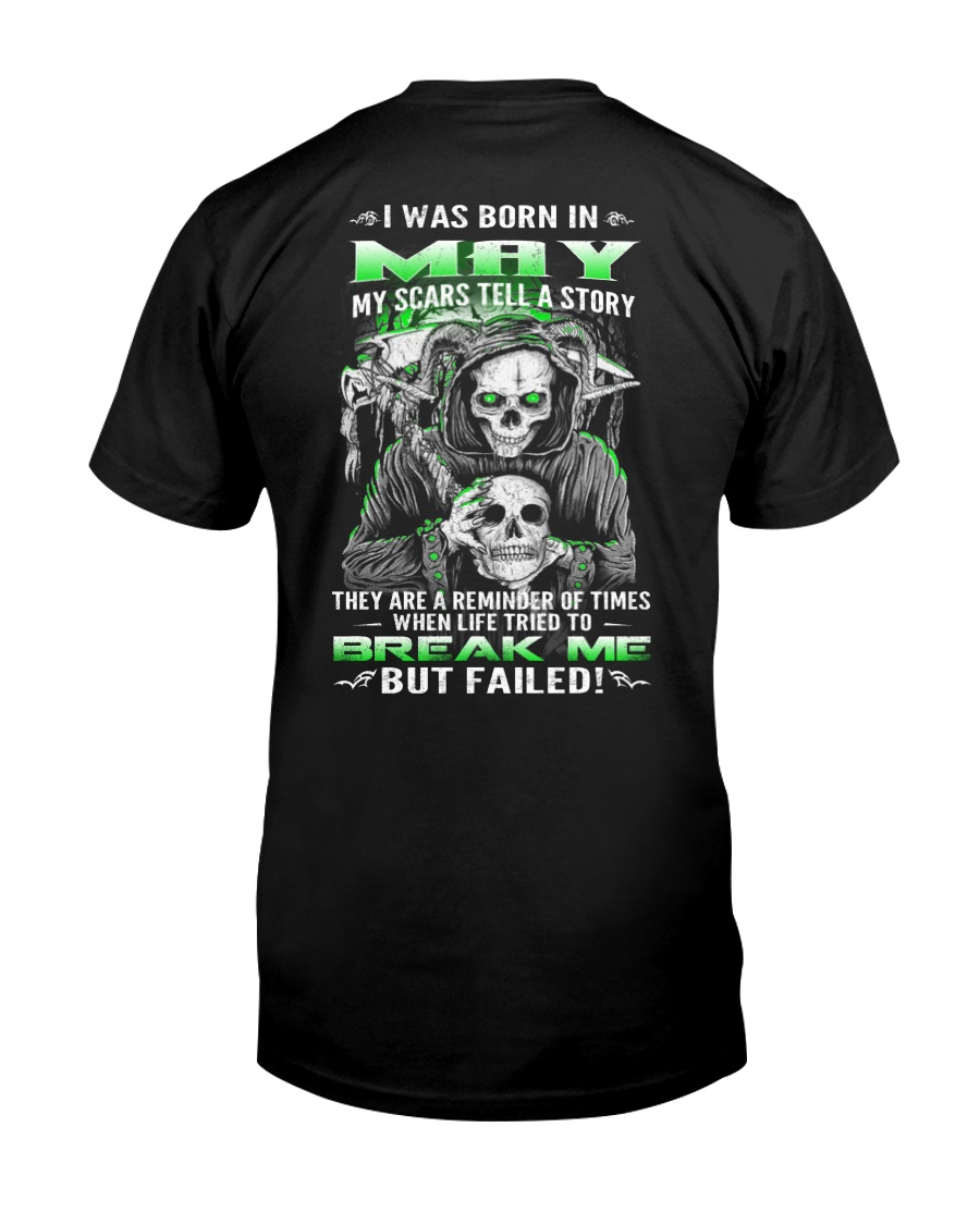 May Guy My Scars Tell A Story Classic T-Shirt