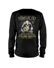 Don't Mess With This February Guy Long Sleeve Tee thumbnail