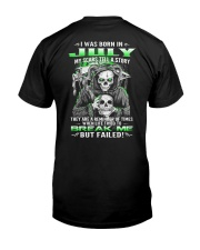 July Guy My Scars Tell A Story Classic T-Shirt back