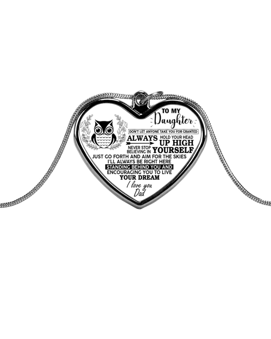 Don't Let Anyone Take You For Granted Owl Metallic Heart Necklace