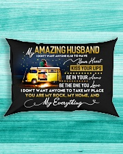 Camping Husband Don't Want Any One Else Rectangular Pillowcase aos-pillow-rectangle-front-lifestyle-5