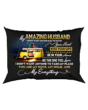 Camping Husband Don't Want Any One Else Rectangular Pillowcase back