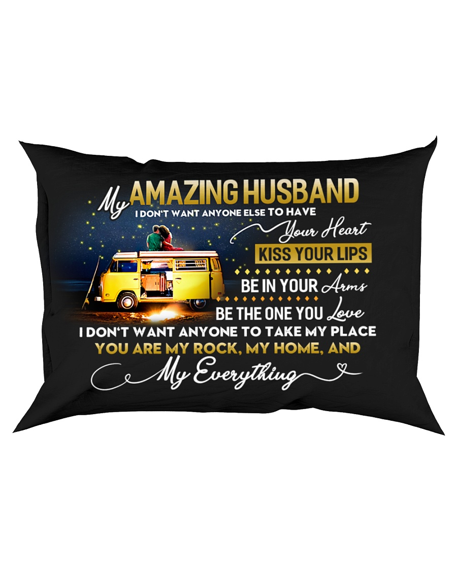 Camping Husband Don't Want Any One Else Rectangular Pillowcase