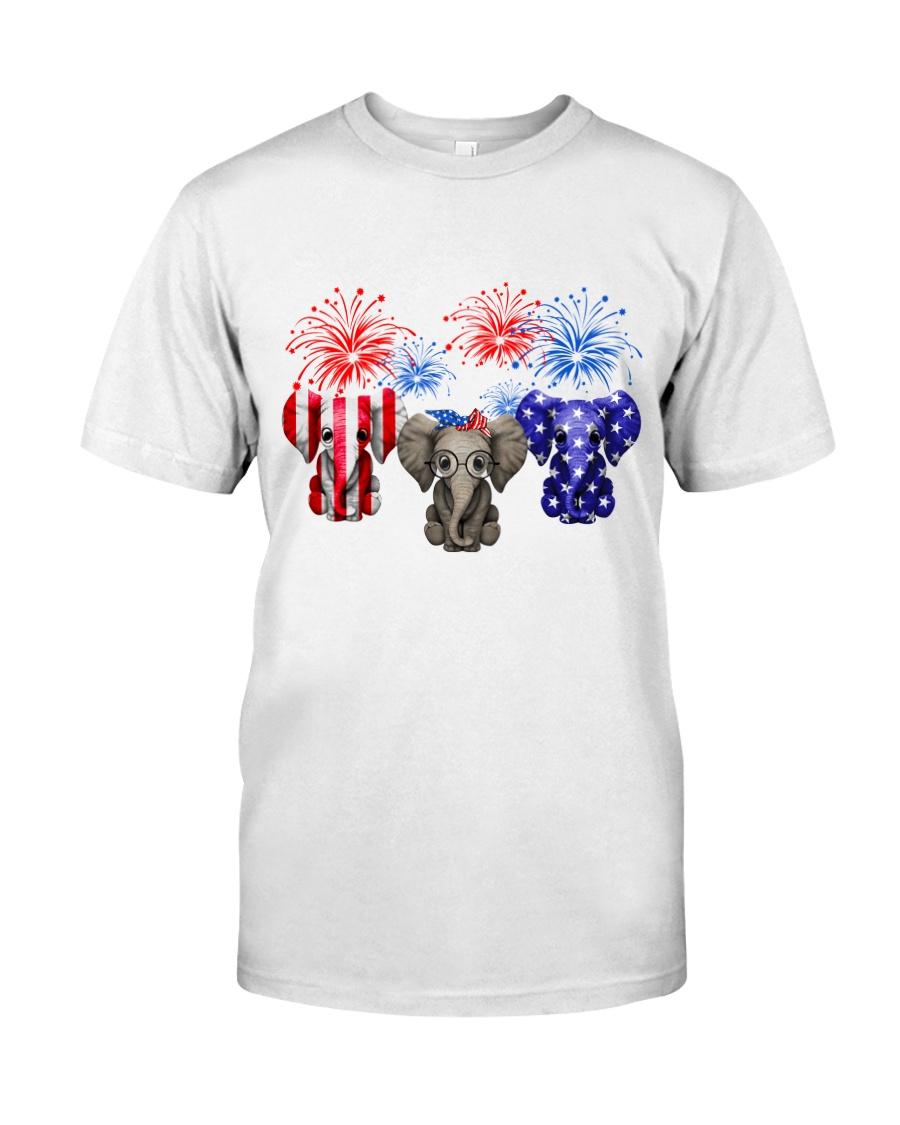 4th July US Flag Elephants Classic T-Shirt