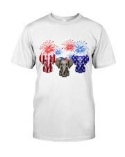 4th July US Flag Elephants Classic T-Shirt front