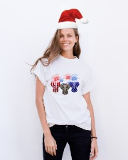 4th July US Flag Elephants Classic T-Shirt lifestyle-holiday-crewneck-front-1
