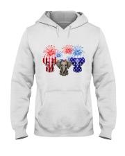 4th July US Flag Elephants Hooded Sweatshirt thumbnail