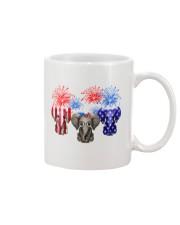4th July US Flag Elephants Mug thumbnail